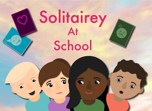 Solitairey in School: The Card Game Dating Sim/Visual Novel