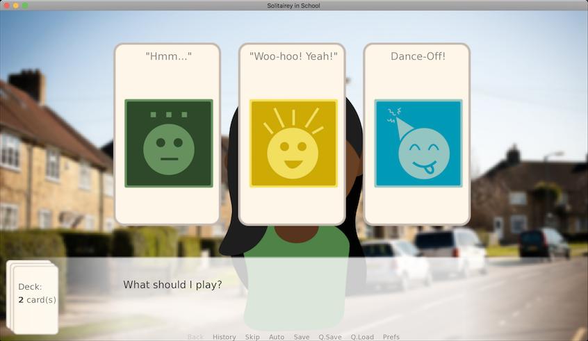 Solitairey in School: The Card Game Dating Sim/Visual Novel | ldjam com